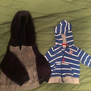Baby Gap (left) and Carters 3 month Hoodies